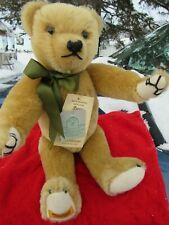 "VINTAGE MERRYTHOUGHT ENGLAND MOHAIR TEDDY BEAR 16"" WEBBED CLAWS AND 5 RARE TAGS"