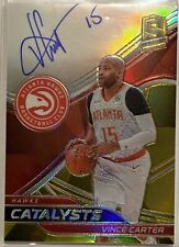 2019-20 Panini Spectra Basketball Vince Carter Gold Catalysts Prizm Auto 7/10 SP