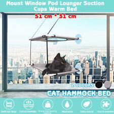 Double-deck Cat Bed Basking Window Hammock Perch Cushion Bed Hanging Shelf Seat