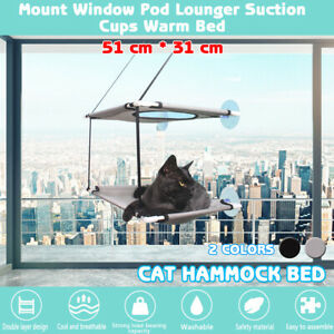 Double-deck Cat Bed Basking Window Hammock Perch Cushion Bed Hanging Shel A