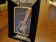 FENDER ELECTRIC GUITAR ZIPPO LIGHTER MINT IN BOX 2016