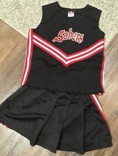 REAL Cheerleading Uniform Cheerleader Halloween Costume 26/24 Girls M Outfit