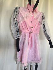 Western Wedding Flower Pink Girl, Lace and Fringe, Dress, S-L
