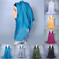 Muslim Long Soft Hijab Maxi Islamic Scarf High Quality Shawl Wrap Women Headwear