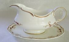 Royal Doulton STRASBOURG GRAVY BOAT W/UNDERPLATE Made in England H4958 Excellent