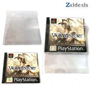 Box Protector PS1 PAL Case CIB (NTSC JAPAN) Game Custom Clear Plastic Case Case
