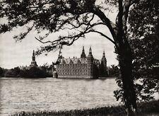 1924 Original SCANDINAVIA Photo Gravure Danish Denmark Hillerod Frederiksborg