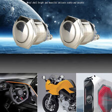 Waterproof Silver Car Auto 19mm 12V Momentary On Off Metal Push Button Switch