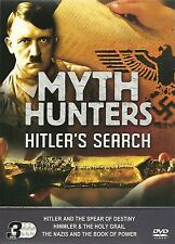 MYTH HUNTERS HITLER'S SEARCH - 3 DVD BOX SET - HIMMLER & THE HOLY GRAIL & MORE