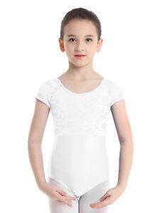 Girls Bodysuits Kids Sleeveless Romper Cutout Back Ballet Dance Leotard Jumpsuit