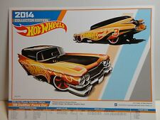 2014 Collectors Edition Hot Wheels 8 1/2 x 11 Poster Gold '59 Cadillac Funny Car