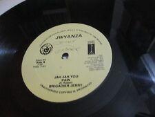 "BRIGADIER JERRY Jah Jah You JWYANZA Roots Reggae 12"" vg+ to exc"
