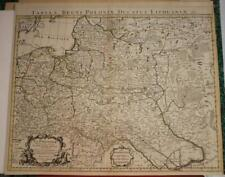 LITHUANIA & POLAND 1720 DE L'ISLE COVENS & MORTIER ANTIQUE.COPPER ENGRAVED MAP