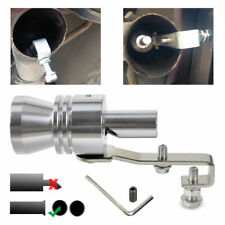 Silver Turbo Sound Whistle Muffler Exhaust Simulator Whistler Pipe Valve XL
