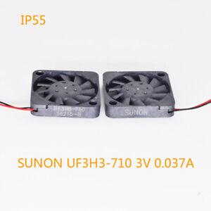 5pcs SUNON UF3H3-710 3V 0.037A 1703 1.7cm Mini Brushless DC Cooling Fan Black