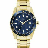 Bulova Men's Quartz Unidirectional Bezel Calendar Date Dial 43mm Watch 98A197