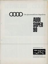 Sonderdruck Vorstellung Audi Super 90 aus Motor im Bild 4/67 1967 presentation