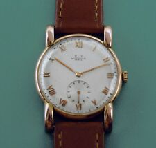 Vintage 40's Paul Ditisheim Solvil 14k Solid Rose Gold Fancy Case Men's Watch