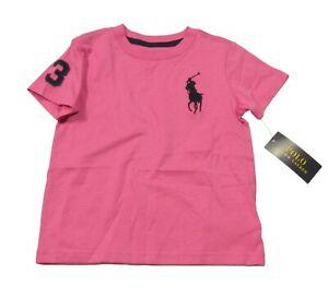 Polo Ralph Lauren Boys Resort Rose Pink Big Pony Short Sleeve T-Shirt