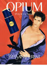 Publicité Advertising 068  1995   parfum homme Opium Yves Saint laurent