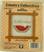 1987 Vintage NIP Traditions Counted Cross Stitch Embroidery Kit Watermelon 8394