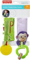 Fisher Price Stroller Friends Plush Strap Covers Baby Car or Pram Teether Rattle