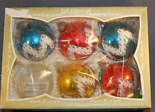 Two Vintage Sets Lanissa Glass Christmas Tree Ornaments West Germany Shiny Brite