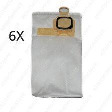 6x sacchetti adattabili Folletto VK140 Interfilter 476 W12M in microfibra