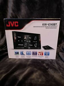 "JVC 6.2"" Built-in Bluetooth-In-Dash CD/DVD/DM Receiver KW-V240BT (Black)"
