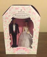 1997 Barbie and Ken Wedding Day Hallmark Keepsake Ornaments/Cake topper Set