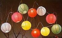 Japanese Chinese Rainbow Paper Lantern Set Christmas Holiday Party Lights S-2735
