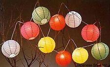 20x Wholesale lot Japanese Chinese Rainbow Paper Lantern Set w/ Lights S-2735x20