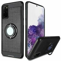For Samsung Galaxy s20 Plus s20+ s11 6.7inch Magnetic Ring Kickstand Case Black