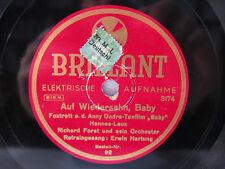 78rpm RICHARD FORST & ERWIN HARTUNG - Auf Wiedersehn, Baby ! FOXTROT FLOTT !