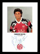 Fabrizio Hayer AUTOGRAFO scheda FSV Mainz 05 1991-92 originale firmato +a30574
