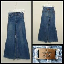 Hash Buckle Back Jeans Women's Meas. 25X30, No Tag Wide Leg Inv#F4758