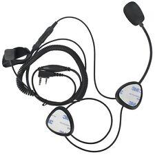 Motorcycle Half Helmet Headset Microphone Finger PTT For Walkie Talkie Radio