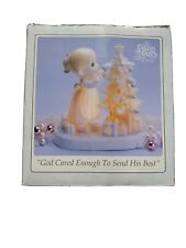 Precious Moments God Cared Enough To Send His Best Christmas Tree Figurine & Box