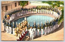 Famous Largo Florida High School Band in Largo, Florida Linen Postcard