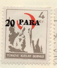 Turkey 1950-52 Early Issue Fine Mint Hinged 20p. Surcharged 085933