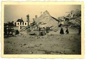 Orig. Foto Strassenszene in zerstörtes PETRIKAU Piotrków Trybunalski Polen 1939