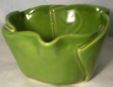 "Hilborn Pottery  Of Canada Multi Purpose Dish Avocado green 2 1/2"" tall"