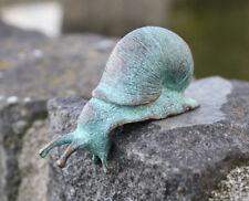 Bronze Skulptur Figur kleine Schnecke Dekoration für Haus und Garten