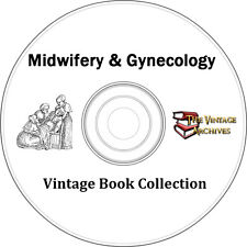 Midwifery & Gynecology Vintage Book Collection on CD  - 5 Books - Midwife