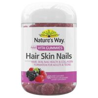 Nature's Way Adult Vita Gummies Hair Skin Nails 60 Berry Flavoured Pastilles