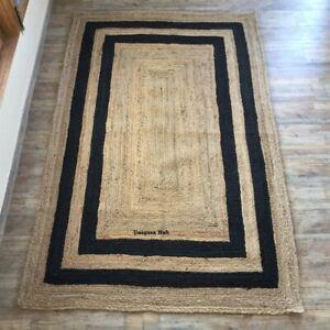 Rug 100% Natural Jute braided Style Runner Rug modern living area carpet rag rug