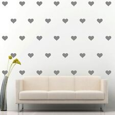 """90 of 4"""" Silver Hearts DIY Removable Peel & Stick Wall Vinyl Decal Sticker"""