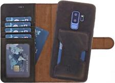 Burkley Samsung Galaxy S9 Plus Lederhülle 2in1 Schutzhülle Handyhülle Case Cover