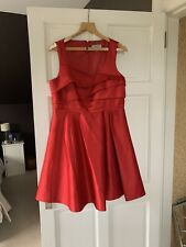 Coast Red Satin Amore Dress Size 18