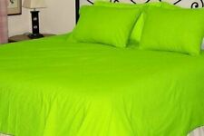 1000 TC EGYPTIAN COTTON BEDDING DUVET COVER+ FITTED SHEET+ PILLOW PARROT GREEN